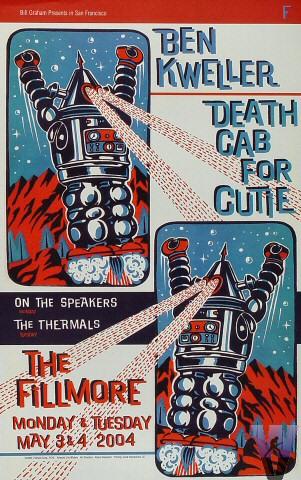 Ben Kweller & Death Cab for Cutie Concert Poster