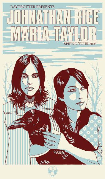 Johnathan Rice & Maria Taylor Concert Poster
