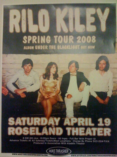 Rilo Kiley Concert Poster