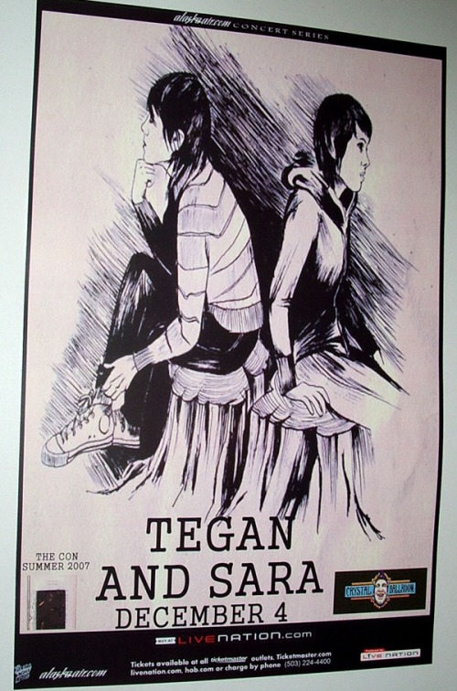 Tegan and Sara Concert Poster
